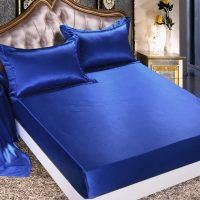 Linen Superstore | Bridal Satin | Deep Pocket | Conventional Fitted Sheet Only