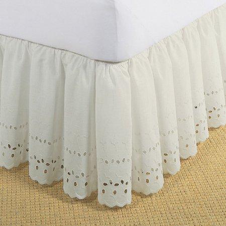 Linen Superstore | Eyelet | Bed Skirt