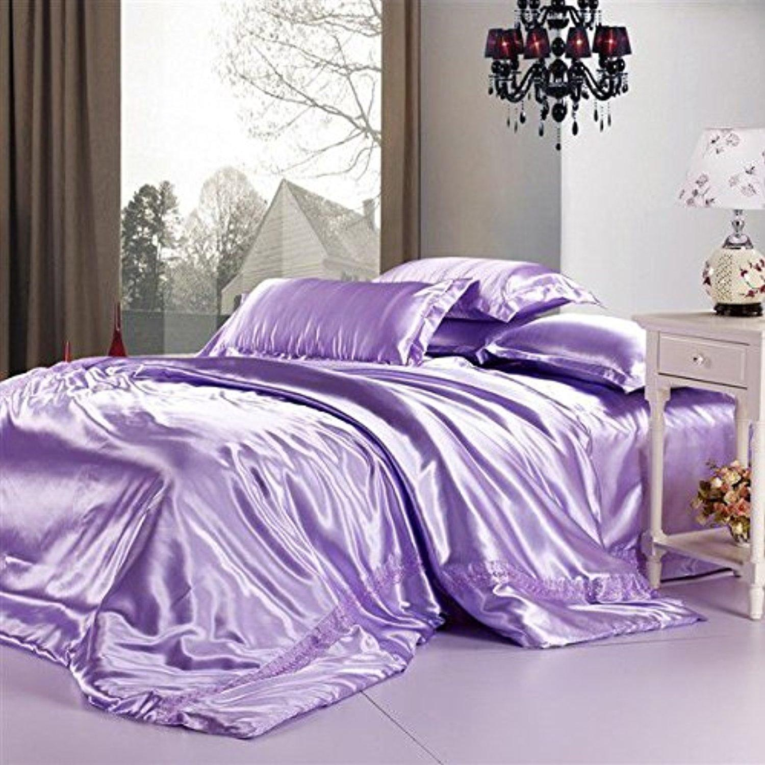 Bridal Satin Deep Pocket Conventional Sheet Set Linen