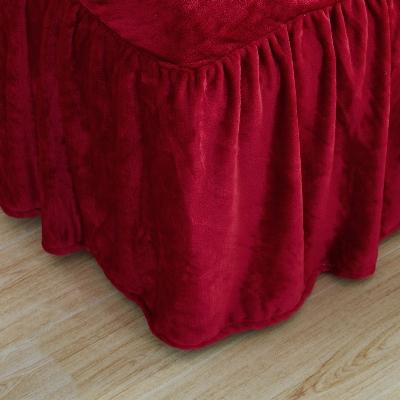 Linen Superstore | Velvet | Bed Skirt